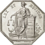 [401245] France Notary Token Au55-58 Silver 34 Lerouge 161 18.80