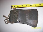 Rare Vintage Old Antique Axe Head Tool Marked Bow Found In Barn Free Ship