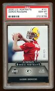 Pop 7 Psa 10 Aaron Rodgers 2005 Ud Rc D /425 Base Rc Packers Star Qb Hot Invest