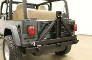 Rock Hard 4x4 Patriot Rear Bumper W/ Tire Carrier For 76-06 Jeep Cj And Wrangler