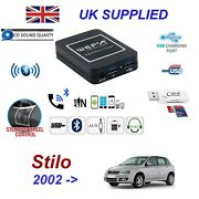 For Fiat Stilo Bluetooth Telephone Streaming Aux Input 2 X Usb Sd Card Reader