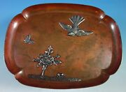 Mixed Metals By Gorham Sterling Silver Copper And Silver Tray Aesthetic 1557