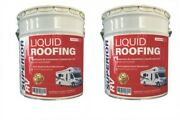 Rubber Rv Roof Leak Sealant And Coating Camper Trailer 10 Gallon 15 Year Guarantee