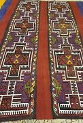 1930-1940s Antique Embroidered Panels 4and0395andtimes6and039 Camel Bag Rug Museum Qlty.
