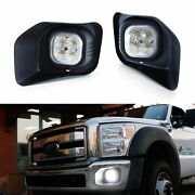 Complete Cree Led Fog Lights W/ Bezel Covers Wirings For 2011-16 F250 F350 F450