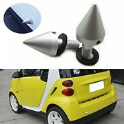 2 Silver Front Or Rear Bumper Protector Spikes Guards Protectors For Smart Car
