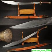Boutique Chinese Wushu Sword Broadsword Clay Tempered Pattern Steel Sharp Blade