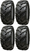 Four 4 Interco Reptile Atv Tires Set 2 Front 26x10-14 And 2 Rear 26x12-14