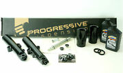 Black 49mm Front End Package W/ Flush Axle And Monotube Harley 14-17 Flh/t Models