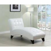Acme Anna Faux Leather Chaise Lounge In White