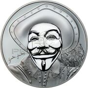 Cook Islands 2017 5 Historic Guy Fawkes Mask Ii Anonymous V For Vendetta 1 Oz