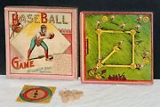 Circa 1897 Mcloughlin Brothers Baseball Game Board Game Complete, Ex Condition