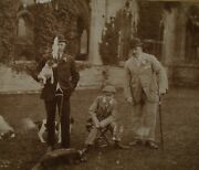 Anitique Photo, English Boar Hunting, 3 Jack Russell Terriers, Large Size