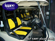 Club Car Golf Cart Iggee S.leather Custom Fit Seat Cover 13 Colors Available