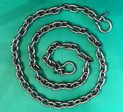 Stainless Steel Windlass Anchor Chain 316 7mm 1/4 Din766 By 6and039 With Shackles