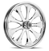 Dna Lust Chrome Forged Billet 23 X 3.75 Front Wheel Harley 2000+ Touring