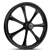 Dna Crystal Gloss Black Forged Billet 23 X 3.75 Front Wheel Harley Softail
