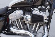 Outlaw Chrome Cone Air Cleaner Filter Kit For 91-15 Sportster 883 1200 Xl
