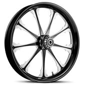 Dna Greed Black Forged Billet 23 X 3.75 Front Wheel Harley Softail