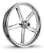 Dna Icon Chrome Forged Billet 21 X 3.25 Front Wheel Harley Softail
