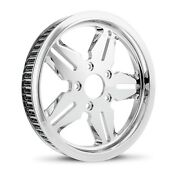 Dna Icon Chrome Rear Pulley 70t 1-1/8 Harley Touring Softail Dyna