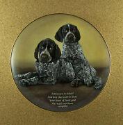 Cherished German Shorthaired Pointers Heart Of Gold Plate Danbury Mint Puppy