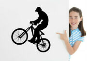 Mtb Dh Bike Rider Wall Sticker Removable Wall Art Decal Uk Decoration Diy Gift
