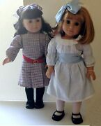 American Girl Pleasant Company Samantha And Nellie Dolls Set New