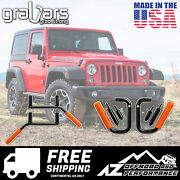 Grabars Front And Rear Set With Red Grips For 07-18 Jeep Wrangler Jk 2 Door 1003r