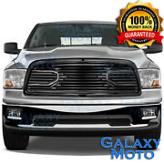 Big Horn Black Replacement Grille+shell For 09-12 Dodge Ram Truck 1500