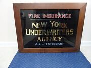 Antique Fire Insurance New York Underwriters Agency A And J H Stoddart Advertising