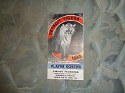 1945 Detroit Tigers Media Guide World Champs Baseball Roster Program Yearbook Ad