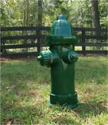 Green Fire Hydrant Heavy Full Size Antique Replica Dated 1904 Vintage Style