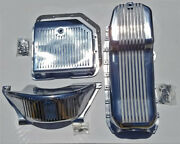 1986-up Chevy Finned Aluminum Oil Pan Turbo 350 Transmission Pan Flywheel Cover