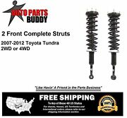 2 New Front Complete Strut Assemblies Toyota Tundra Lifetime Warranty Pair
