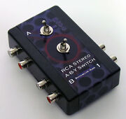 Rca Stereo Pair A/b/y Switch Splitter Adapter Toggle Input Output A, B, Or Both