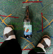 Rogue Pdx Carpet Ipa Limited Edition Beer Bottle ☆ Empty W/ Cap And Bin Bonus