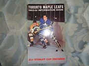 1963-64 Toronto Maple Leafs Media Guide Yearbook 1964 Nhl Champs Press Book Ad