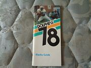 1978 Miami Dolphins Media Guide Yearbook Press Book Nfl Football Program Ad