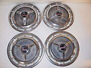 Vintage Mid 1960and039s 14 Chevy Ss Wheelcovers / Hub Caps - Set Of 4 Good Condition