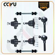8pcs Suspension And Steering Parts Ball Joint Tie Rod Ends Stabilizer Bar Link Kit