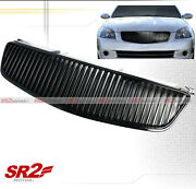 Abs Black Front Grille Grill Vertical Style Fits 05-06 Nissan Altima
