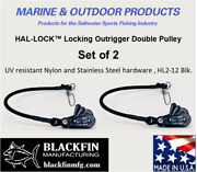 Hal-lock Andtrade Hl2-12 Locking Outrigger Double Pulley Set Of 2 Ships Same Bus. Day