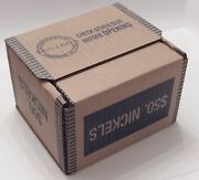 Sealed 50 Buffalo And Liberty V Nickel Lot 25 Roll Box Mixed Date Mint Us Nickels