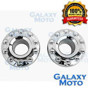 05-17 Ford Super Duty Dually Chrome 10 Lug 19 Front Wheel Center Hub Cap 1 Pair