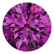 1.8 Mm Certified Round Fancy Purple Color Si Loose Natural Diamond Wholesale Lot