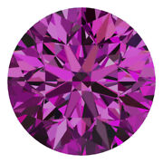 2.4 Mm Certified Round Fancy Purple Color Si Loose Natural Diamond Wholesale Lot