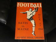 1934 Colby At Maine College Football Program Ex-mint