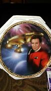 Admiral Kirk And The U.s.s. Enterprise Ncc-1701 Collector's Plate 4044c Nice..