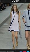 Dress Runway Ss 2015 100 Cashmere Lilac And Navy Fr38 Knitted